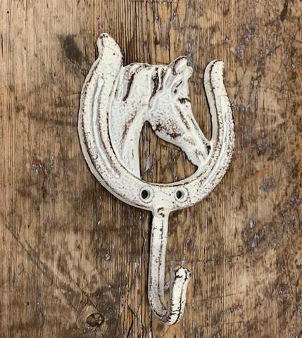 Valurautainen, valkoinen hevosenkenkä -koukku, Weiste