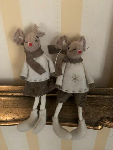 Beige-valkoinen lötköjalkahiiri ripustuslenkissä, hiiri by Weiste