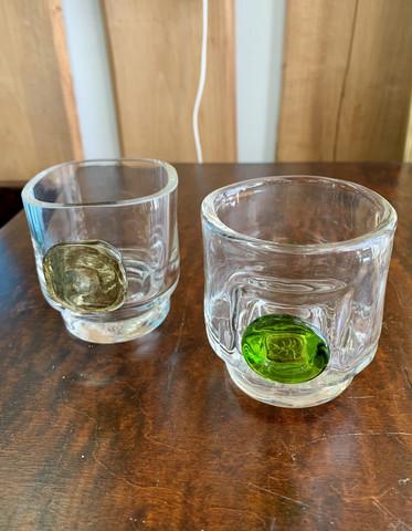 Helena Tynell, Riihimäen lasi, Nappi ja Tippa lasit