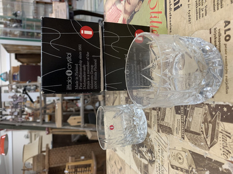 Iittala, Roxy lasi, design Kari Uusitalo, alkuperäispakkauksessa