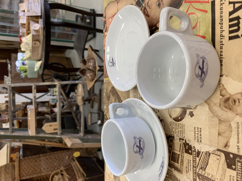 Arabian Sotilaskoti kahvikuppi, piippuleima
