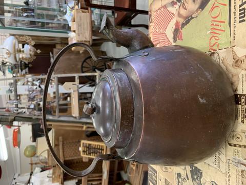 Upea 40 kupin kuparinen kahvipannu 1850-luvulta, kuparipannu 5 litraa