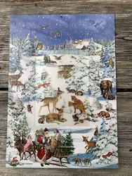 Laadukas joulukalenteri: Metsän eläimet, osa kuvasta kolmiuloitteinen