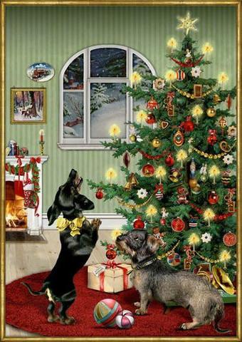 Hellyyttävä, kaunis joulukalenteri: Koirien Joulu