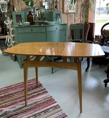 Harvinainen, upea vintage sohvapöytä, korotusmekanismi ja jatkopala