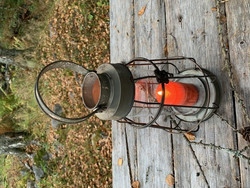 Uusvanha kaunis lyhty metallia, Factory lantern by Chic Antique