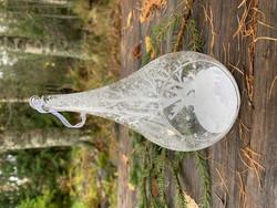 Suuri lasinen, huurteinen avopisara Weisteeltä