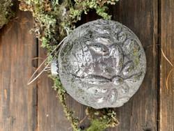 Weisteen lasipallo kukka, lasinen joulupallo, joulukoriste