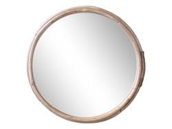 Pyöreä uusi rottinkikehyksinen peili, Chic Antique
