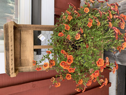 Puinen, muovitettu kukkalaatikko kanaverkko