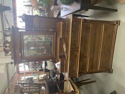 Vanha, kaunis peilipiironki, seitsemän laatikkoa, upeat yksityiskohdat