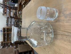 Nuutajärven vanha lasinen karahvi korkilla,