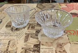Riihimäen lasi, kermakko ja sokerikko, design Aimo Okkolin