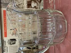 Riihimäen lasin vanha, kaunis lasikannu, vanha kirkas maitokannu