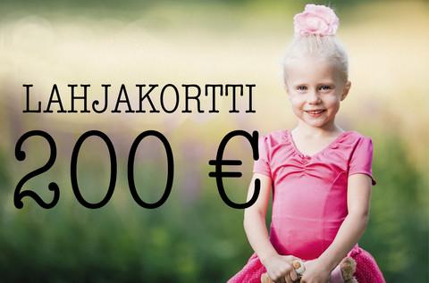 Lahjakortti 200 €