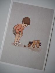 Postikortti Belle et boo, poika ja etana