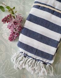 Tyyni hamam-pyyhe, tummansininen