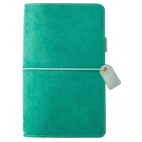 Color crush Aspen Green Suede traveller´s notebook