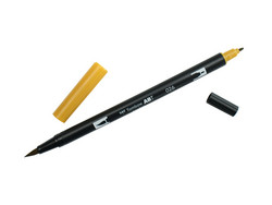 Tombow dual brush-kynä Yellow gold nro. 026