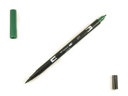 Tombow dual brush-kynä Dark green nro. 277