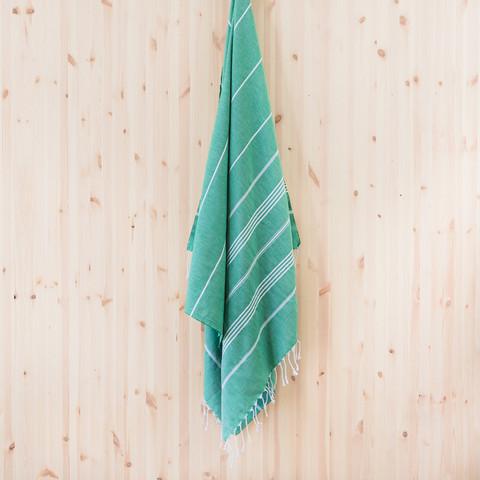 Ranta hamam-pyyhe, vihreä
