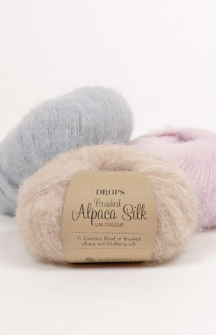 Drops Brushed alpaca silk-alpakkalanka
