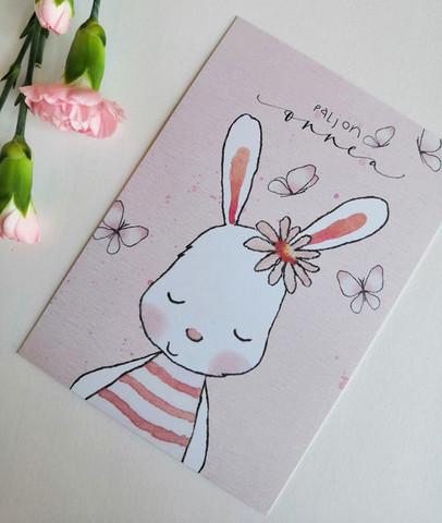 Paljon onnea pupu-postikortti