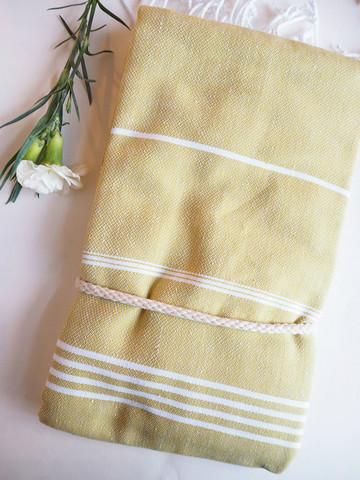 Ranta hamam-pyyhe, keltainen lime