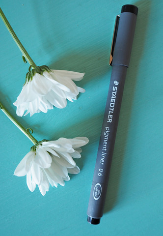 Pigment liner kuitukärkikynä, 0.1 mm, musta