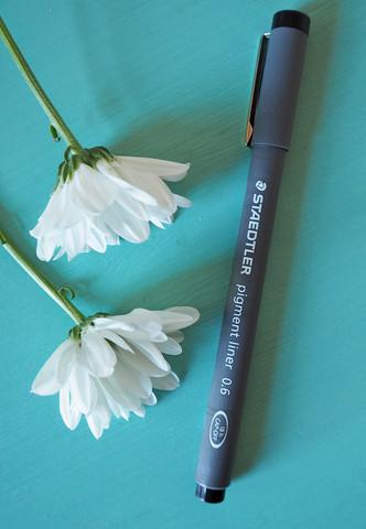 Pigment liner kuitukärkikynä, 1.0 mm, musta