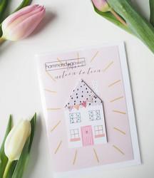 Uuteen kotiin-Postikortti, 2-osainen