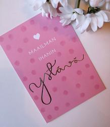 Ihanin ystävä-postikortti