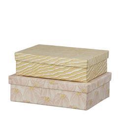 Oblong duo-laatikko, koko S. väri sheila blush. Kaksi vaihtoehtoa