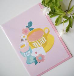 Äitienpäiväkortti, for mum. 2-osainen
