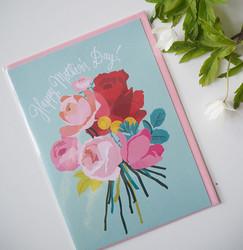 Äitienpäiväkortti, Mother´s day. 2-osainen