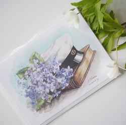 Ylioppilaskortti, sinivuokot ja lakki. 2-osainen