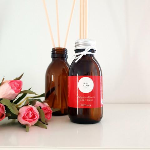 Huonetuoksu, Bulgarian Rose & white amber