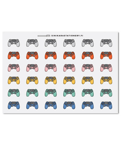 Playstation ohjaimet- kalenteritarrat