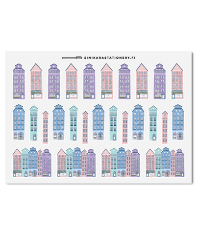 Talot (pastelli)- kalenteritarrat
