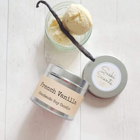 Soijavahakynttilä, french vanilla. Vegaaninen