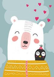 Ystävykset-postikortti