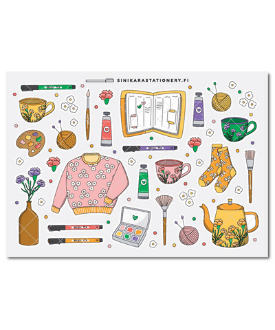 Kotoilu- kalenteritarrat, bright