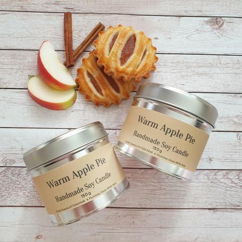 Soijavahakynttilä, warm apple pie. Vegaaninen