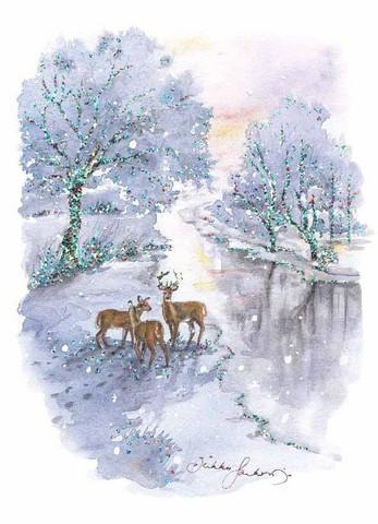 Peurat-joulukortti, 2-osainen