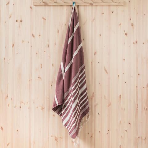 Hamam-kylpypyyhe, viininpunainen