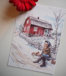 Kirjailijapoika-postikortti