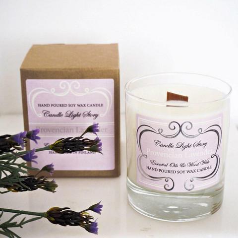 Soijavahakynttilä eteerisillä öljyillä-Provencian Lavender