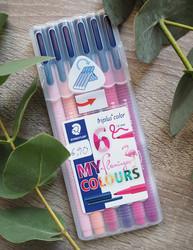 Triplus flamingo kuitukärki-tussit, 6 kynää