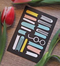 Lukutoukka -postikortti
