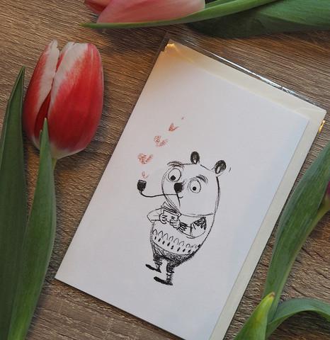 Sydän sauhuja 2-osainen pieni kortti